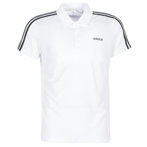 Clothing Men short-sleeved polo shirts adidas Performance M D2M CLA 3S PO White