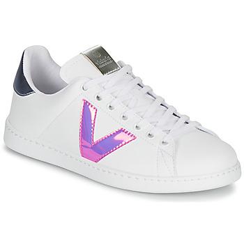 Shoes Women Low top trainers Victoria TENIS VINILO White / Blue