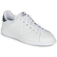 Shoes Women Low top trainers Victoria TENIS PIEL SERPIENTE White / Blue