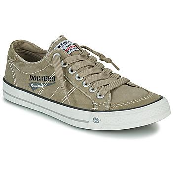 Shoes Men Low top trainers Dockers by Gerli 30ST027-450 Kaki