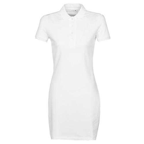 Clothing Women Short Dresses Lacoste EUGENIE White