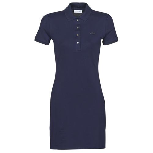 Clothing Women Short Dresses Lacoste SOLENE Marine