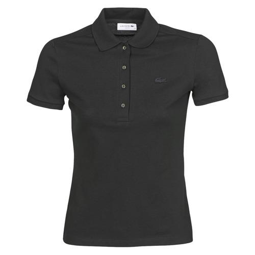 Clothing Women short-sleeved polo shirts Lacoste PH5462 SLIM Black