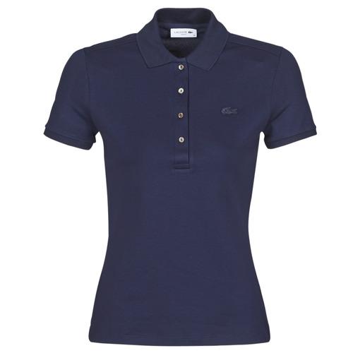 Clothing Women short-sleeved polo shirts Lacoste PH5462 SLIM Marine