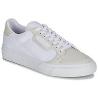 Shoes Children Low top trainers adidas Originals CONTINENTAL VULC J White / Beige