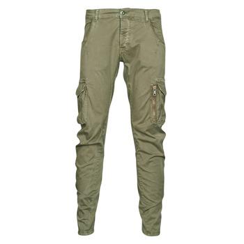 Clothing Men Cargo trousers Le Temps des Cerises ALBAN Kaki