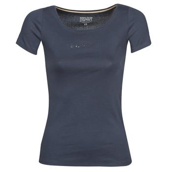 Clothing Women Short-sleeved t-shirts Esprit T-SHIRTS LOGO Marine