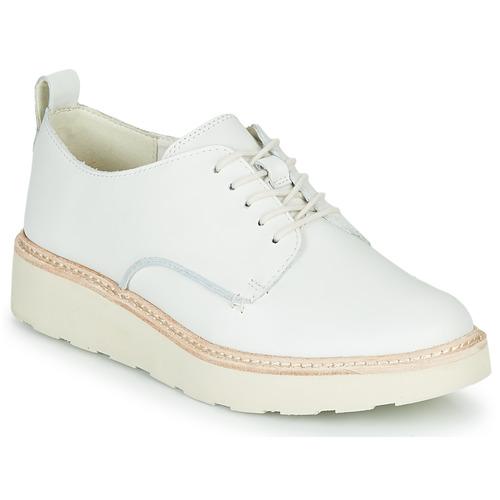 Shoes Women Derby Shoes Clarks TRACE WALK White