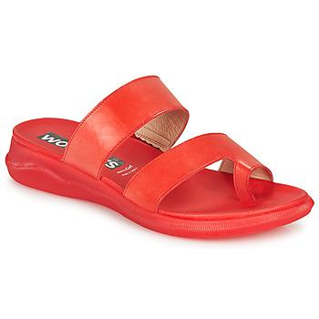 Shoes Women Flip flops Wonders  Red