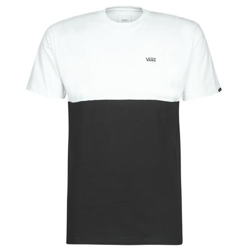Clothing Men short-sleeved t-shirts Vans COLORBLOCK TEE Black / White