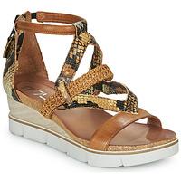 Shoes Women Sandals Mjus TAPASITA Brown / Python