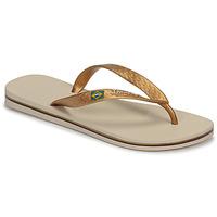 Shoes Women Flip flops Ipanema CLAS BRASIL II Beige / Gold