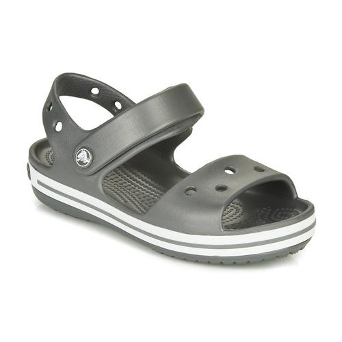 Shoes Children Outdoor sandals Crocs CROCBAND SANDAL KIDS  black / White
