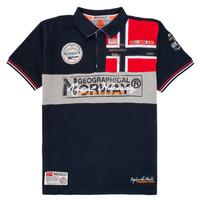 Clothing Boy short-sleeved polo shirts Geographical Norway KIDNEY Marine