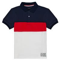 Clothing Boy Short-sleeved polo shirts Ikks LORIE White