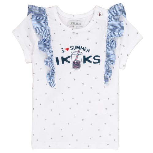 Clothing Girl short-sleeved t-shirts Ikks HILONA White