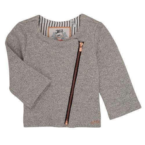 Clothing Girl Jackets / Cardigans Ikks LOIS Grey