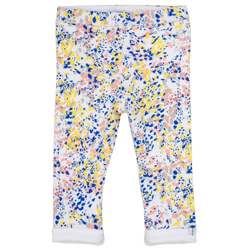 Clothing Girl leggings Ikks ELIES White / Multicolour