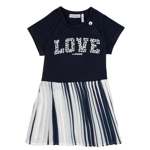 Clothing Girl Short Dresses Ikks POELA Marine