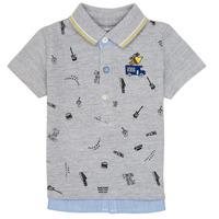 Clothing Boy Short-sleeved polo shirts Ikks MAELYS Grey