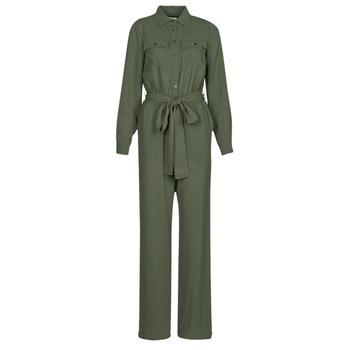 Clothing Women Jumpsuits / Dungarees MICHAEL Michael Kors ROLL SLV SAFARI JMPST Kaki