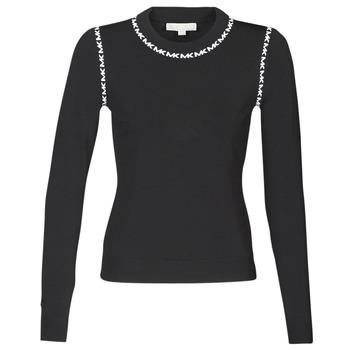 Clothing Women jumpers MICHAEL Michael Kors MK TRIM LS CREW Black