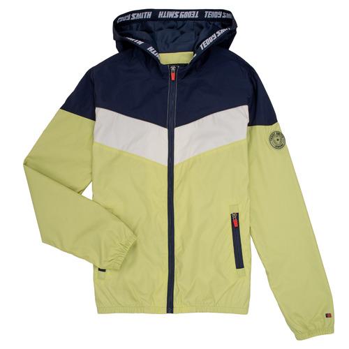Clothing Boy Jackets Teddy Smith SNIL Marine / White / Green