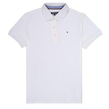 Clothing Boy Short-sleeved polo shirts Tommy Hilfiger KB0KB03975 White