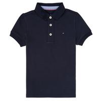 Clothing Boy short-sleeved polo shirts Tommy Hilfiger KB0KB03975 Marine