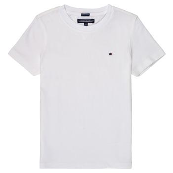 Clothing Boy short-sleeved t-shirts Tommy Hilfiger KB0KB04140 White