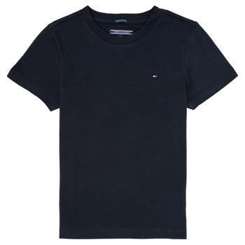 Clothing Boy Short-sleeved t-shirts Tommy Hilfiger KB0KB04140 Marine