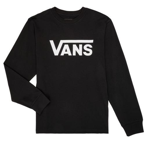 Clothing Boy Long sleeved tee-shirts Vans BY VANS CLASSIC LS Black