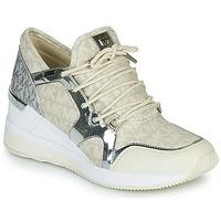 Shoes Women Low top trainers MICHAEL Michael Kors LIV TRAINER Beige / Silver