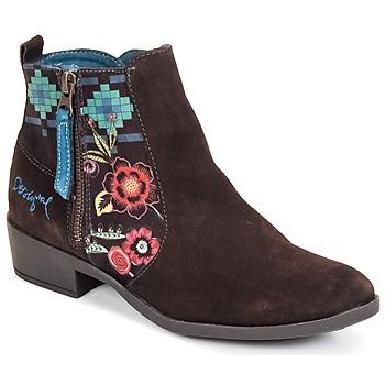 Shoes Women Ankle boots Desigual NATALIA CHOCOLATE
