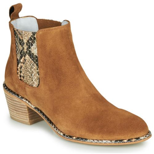 Shoes Women High boots Regard NINA V6 PESCA P CUOIO Brown