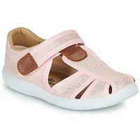 Shoes Girl Sandals Citrouille et Compagnie GUNCAL Pink / Metallic