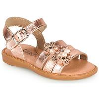 Shoes Girl Sandals Citrouille et Compagnie KATAGUE Bronze