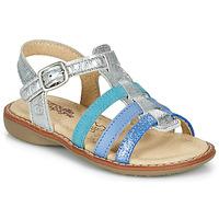 Shoes Girl Sandals Citrouille et Compagnie GROUFLA Silver / Blue / Green