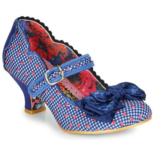 Shoes Women Heels Irregular Choice Summer Breeze Blue / Check