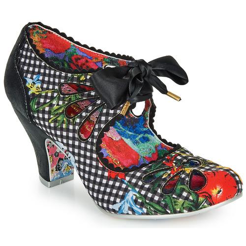 Shoes Women Heels Irregular Choice Sugar Plum  black / Check