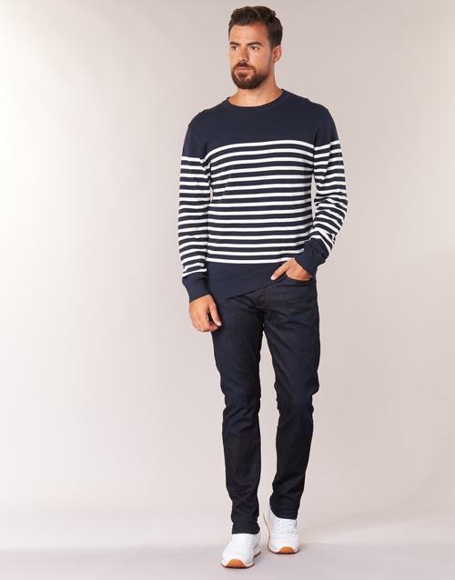 Clothing Men straight jeans G-Star Raw 3301 TAPERED Visor / Stretch / Denim / Dk / Aged