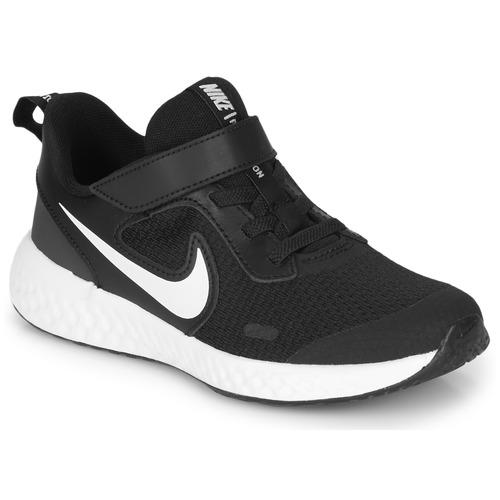 Shoes Children Multisport shoes Nike REVOLUTION 5 PS Black / White