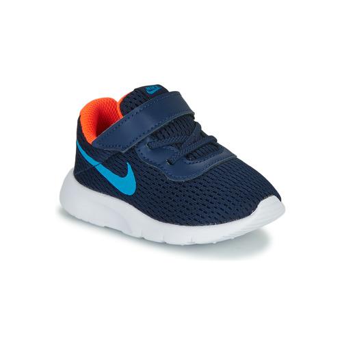Shoes Boy Low top trainers Nike TANJUN TD Blue