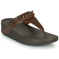 Shoes Women Flip flops FitFlop LOTTIE CHAIN TOE-THONGS Brown