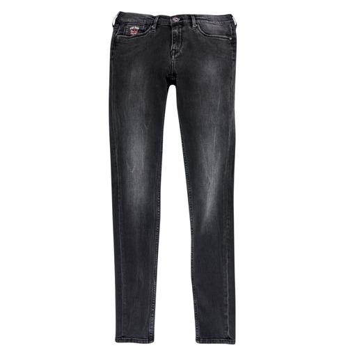 Clothing Girl Slim jeans Pepe jeans PAULETTE Black