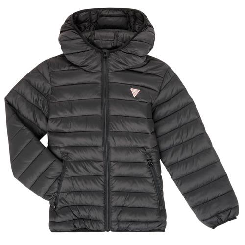 Clothing Children Duffel coats Guess HENRIK Black