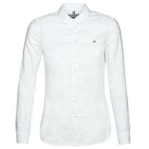 Clothing Women Shirts Tommy Hilfiger HERITAGE REGULAR FIT SHIRT Blc