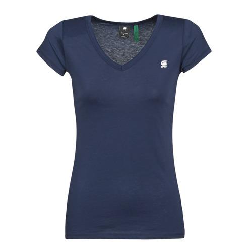 Clothing Women Short-sleeved t-shirts G-Star Raw EYBEN SLIM V T WMN SS Blue