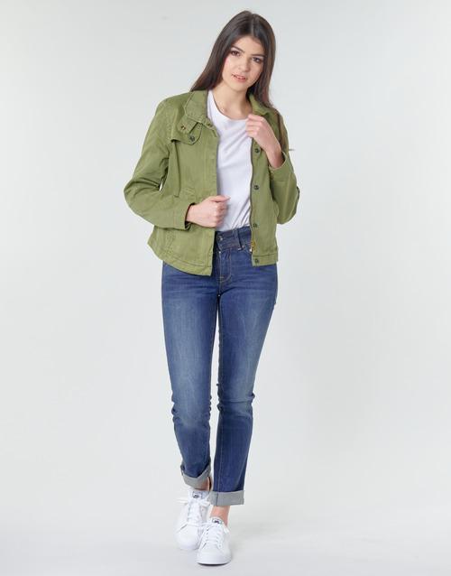 Clothing Women straight jeans G-Star Raw MIDGE MID STRAIGHT WMN Kaki