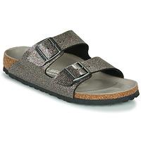 Shoes Women Mules Birkenstock ARIZONA Black / Silver